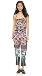 Clover Canyon Floral Collage Jumpsuit Pink