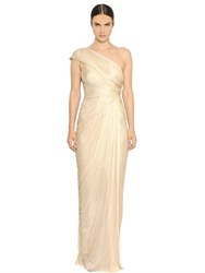 Maria Lucia Hohan Darlinda Pleated Silk Tulle Gown