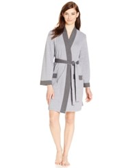 Charter Club Double Knit Robe Charcoal Heather