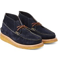 Yuketen Maine Guide Leather Chukka Boots Storm Blue
