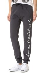 Happiness Do Not Disturb Sweatpants Washed Black