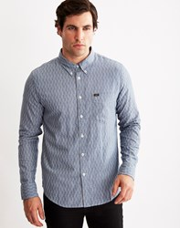 Lee Button Down Shirt In Brushed Twill Check