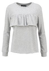 Evenandodd Sweatshirt Grey Melange Mottled Grey