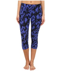 Zobha Addison Printed Capri Pants Muscari Blue Women's Capri