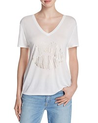 Halston Heritage Lips V Neck Tee Compare At 95 White