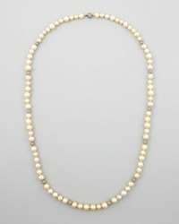 Eli Golden South Sea Pearl And Pave Diamond Necklace 38 L