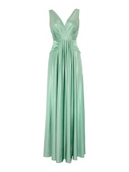Biba Pleat Detail Full Skirted Maxi Dress Jade