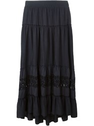 P.A.R.O.S.H. Embroidered Maxi Skirt Grey