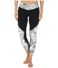 New Balance Fashion Crop Pants Black White Black Women's Casual Pants