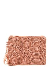 Mary Frances Beaded Coin Purse Pink