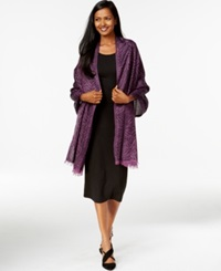 Style And Co. Zebra Print Jacquard Wrap Only At Macy's