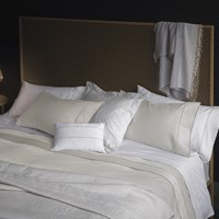 La Perla Nervures Duvet Cover Super King Ivory And Sand