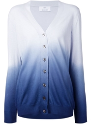 Allude Gradient Effect Cardigan Blue