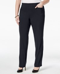 Jm Collection Plus Size Pull On Bootcut Pants Only At Macy's Navy