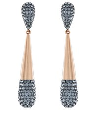 Swarovski Cypress Crystal Pave Drop Earrings Gold