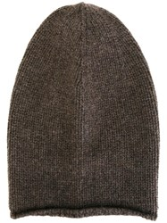Kristensen Du Nord Long Knitted Beanie Brown