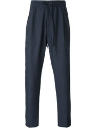 Juun.J Drawstring Trousers Blue