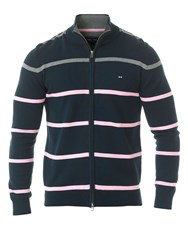 Eden Park Striped Cardigan Navy