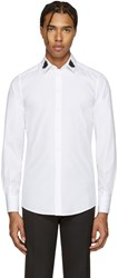 Dolce And Gabbana White Embellished Bees Shirt