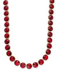 Charter Club Round Crystal Necklace Only At Macy's Red Gold