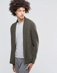 Weekday Jab Boiled Wool Cardigan 19 126 Khaki Green