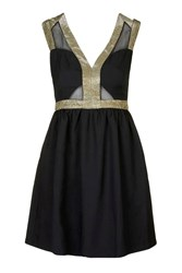 Mesh And Cut Out Bustier Dress By Jovonna Black