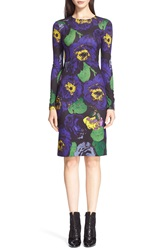 Erdem 'Eileen' Floral Print Ponte Knit Sheath Dress