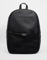 Asos Backpack With Mesh Pocket Black