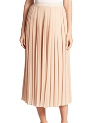 Agnona Silk Midi Skirt Blush