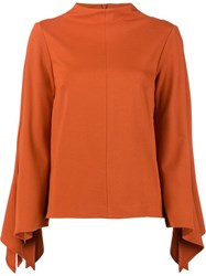 Tibi Pointy Longsleeves Blouse Yellow Orange