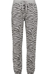 Zoe Karssen Printed Jersey Tapered Pants Gray