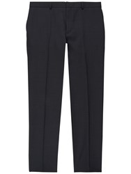 Jaeger Wool Pick And Pick Slim Trousers Charcoal