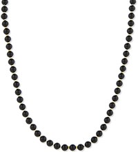 Black Dakini Beaded Agate Necklace Blk Gold