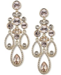 Givenchy Gold Tone Crystal And Pave Chandelier Earrings