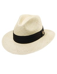 Tommy Bahama Textured Wide Brim Fedora Black