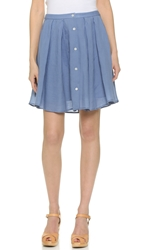 Theory Sunny Keltrice Skirt Vintage Blue