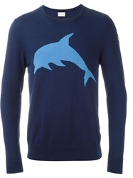 Moncler Dolphin Intarsia Jumper Blue