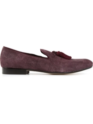 Pollini Patterned Slippers Pink And Purple