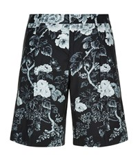 Dolce And Gabbana Tailored Floral Bermuda Shorts Male Black