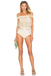 Beach Riot X Revolve X A Bikini A Day Charlotte One Piece Metallic Gold