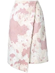 Murral Wrap Skirt Pink And Purple