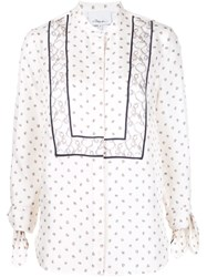 3.1 Phillip Lim Printed Tie Sleeve Blouse White