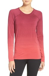 Brooks Women's Drilayer Top Poppy Sangria