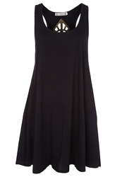 Rusty Jewel Jersey Dress Black
