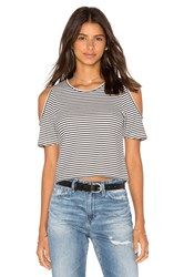Central Park West Corfu Cold Shoulder Top Black And White