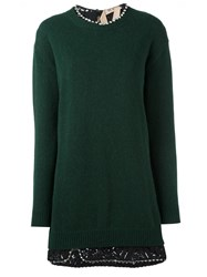 N 21 No21 Lace Inset Dress Green