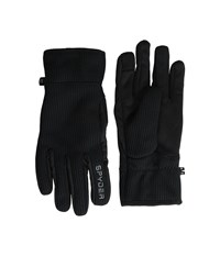 Spyder Core Sweater Conduct Glove Black Polar Ski Gloves Brown