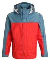 Marmot Precip Hardshell Jacket Rocket Red Moon River