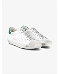 Golden Goose Superstar Leather Sneakers White Green Grey Golden Black