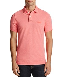 Superdry Vintage Destroyed Snow Regular Fit Polo Shirt Fenton Pink